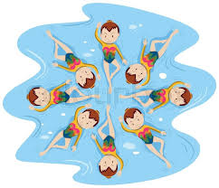 Image result for synchro swimming cartoon art
