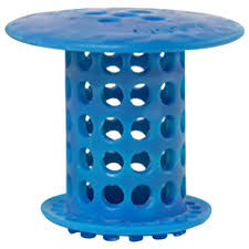 drain protector hair catcher in blue