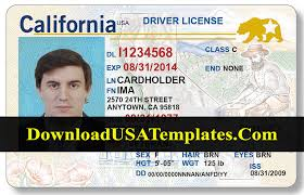 Drivers California Psd License Template new Updated