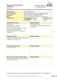 Project Recovery Plan Template Disaster Management Sample