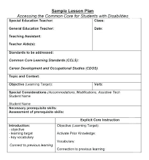 Sample Common Core Lesson Plan Enchanting Sample Common Core Lesson Plan New CreateSelect A Quality Pacing