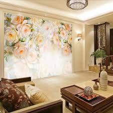 Kleurrijke Rose Bloem Muurschilderingen Behang Roll Voor Woonkamer
