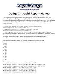 dodge intrepid repair manual  repairsurge com dodge intrepid repair manual the convenient online dodge intrepid repair manual