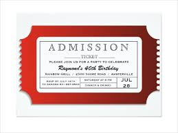 Admission Ticket Template Free Download Admit Ticket Template Blank Admission Ticket Template Professional