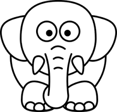 Cartoon Elephant Clip Art Get Coloring Pages