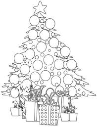 Small Picture Printable Christmas Tree Coloring Pages Coloring Me