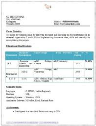 Sample Resume For Freshers Engineers Download Choppix