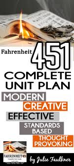 1000 ideas about fahrenheit 451 ray bradbury books fahrenheit 451 by ray bradbury literature guide complete unit plan 4 5 week