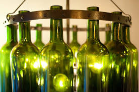 image of diy wine bottle light fixture ideas