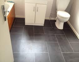 vinyl tiles in bathroom. Enchanting Bathroom Ideas With Dark Grey Vinyl Tile Flooring Using White Vanity And Light Wall Color Tiles In O