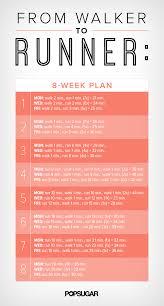 8 Week Plan To Go From Walking To Running Popsugar