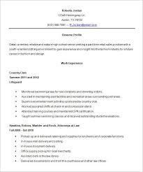 High School Pinterest High School Resume Template Resume