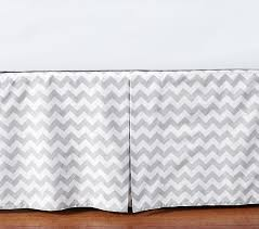 Crib Skirt Pattern Mesmerizing Harper Chevron Crib Skirt Pottery Barn Kids