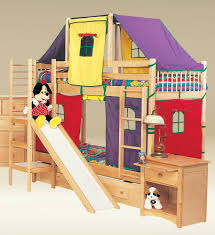 bunk bed with slide and tent. Accessories: Amusing Bunk Beds Slide Futon Bed Ideas Natural For Adults With And Swing Boy Tent Y
