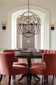 dining room kitchen table chandelier cube unique crystal contemporary velvet leather upholstered chair antique dark