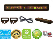 programmable led sign led sign 26 x4 remote programmable tri color scrolling message board