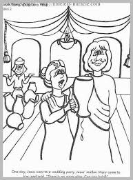Beginners Bible Coloring Pages Astonishing Turns Water Into Wine At