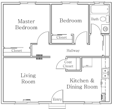 Small 2 Bedroom Cottage Plans 2 Bedroom Flat Plan Drawing
