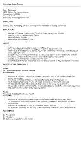 oncology nurse resume sample luxury inspiration 5 . cancer nurse resume ...