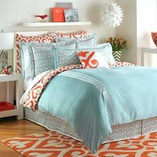 teal and gray bedding sets orange grey dotted comforter set white bed