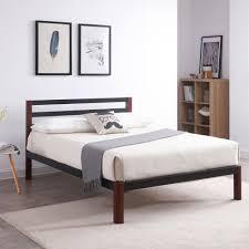 wood and metal platform bed. Interesting Wood On Wood And Metal Platform Bed N