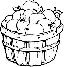Apple Basket Coloring Page Warm A Is For Pages Color With Regard To