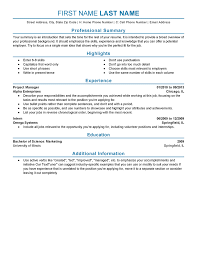 Resume Work Experience Format Simple Resume Template For Experienced
