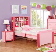 Furniture of America Marlee Pink 2pc Kids Bedroom Set with Twin Bed