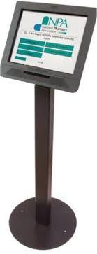 touchscreen kiosk used for consumer
