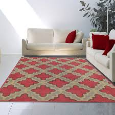 contemporary red moroccan trellis area rug modern red area rugs contemporary
