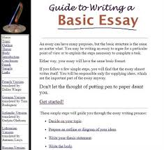 for essay writing guide for essay writing