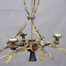 rustic classy antique black forest antler chandelier for