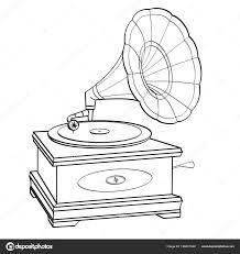 Gramophone Stripboek Retro Stijl Vector Geïsoleerde Object