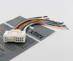xtenzi reverse wiring harness for car in dash stereo xtenzi car stereo reverse wiring harness for hyundai kia 2005 up oem radio 1004