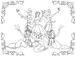 Small Picture 103 Best Disney Princess Coloring Images On Pinterest Drawings