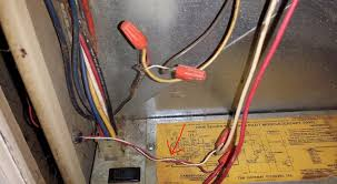 we need help coleman presidential iii doityourself com here are the wires from the thermostat i believe going into the control box you can kind of see the wires entering the box in the picture above on the