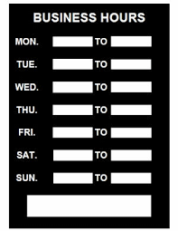 printable store hours sign business hours sign pdf template download