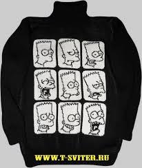 тату свитер барт симпсон серия симпсоны свитера с симпсонами