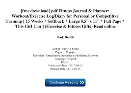 Free Download Pdf Fitness Journal Planner Workout Exercise Log D
