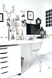 White office decors Minimalist Office Decors All White Office Furniture White Office Decors Stylish Office Offices Home Black And White Office Decors Dotrocksco Office Decors Home Office Decorating Ideas Cool Decor Inspiration