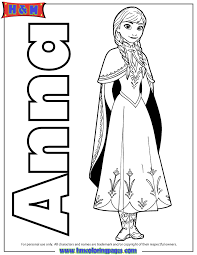 Small Picture Anna From Frozen Movie Coloring Page H M Coloring Pages