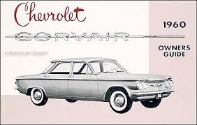 1960 1961 chevrolet corvair wiring diagram manual car monza van pickup 1960 chevrolet corvair owner s manual reprint
