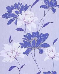 Bloemen Behang Structuur Vinylbehang Edem 168 32 Design Behangpapier Kobaltblauw Licht Blauw Wit Zilver