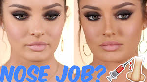 how i straighten my round nose with contouring no surgery needed
