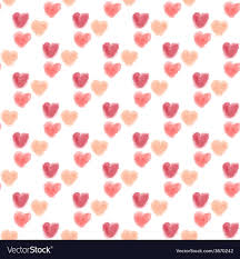 Seamless Watercolor Hearts Background Royalty Free Vector
