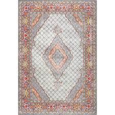 nuloom jessia persian medallion orange runner 2 ft 8 in x 8 ft rug