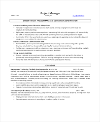 Construction Resume Template Interesting 48 Manager Resume Templates PDF DOC Free Premium Templates