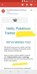 Pokemon Go Promo Codes SEP 2021 auf Twitter: