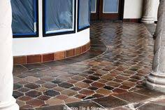 Outdoor Walkway And Entry With Riviera Pattern Manganese Saltillo Tile. Get  This Quarry Floor Tile