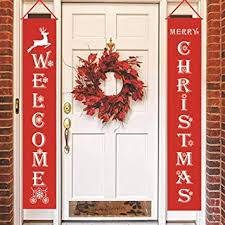 Buy AIOYT Released 180 * 30Cm <b>Merry Christmas Porch</b> Banner ...